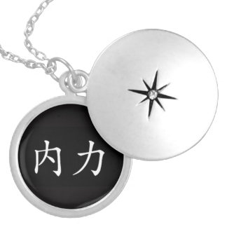 """Inner Strength"" Round Locket Necklace"