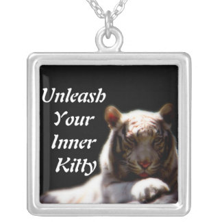 Inner Tiger Fashion Square Pendant Necklace