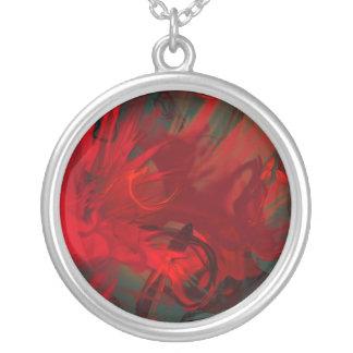 inner turmoil round pendant necklace