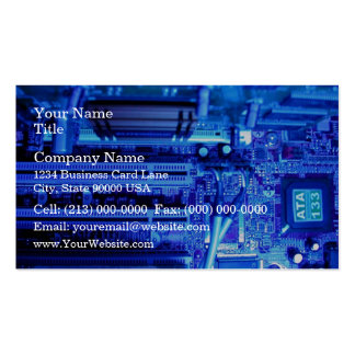 Inner view of CPU Business Card Template