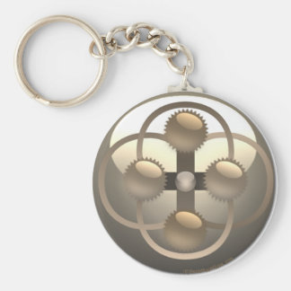 INNER WORKINGS BASIC ROUND BUTTON KEY RING