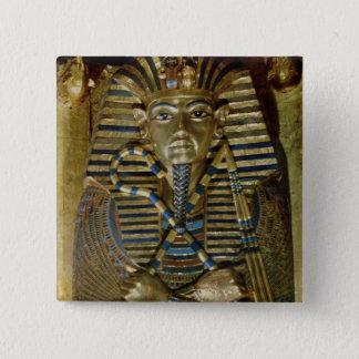 Innermost coffin of Tutankhamun 15 Cm Square Badge