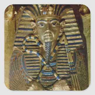 Innermost coffin of Tutankhamun Square Sticker