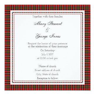 Innes Scottish Wedding Square Invitation
