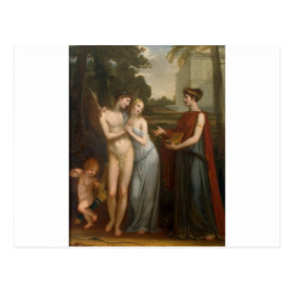 Innocence Preferring Love to Wealth by Pierre-Paul Postcard