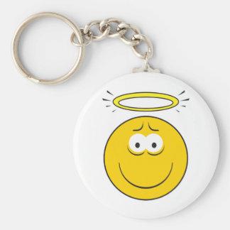 Innocent Angel  Smiley Face Key Ring