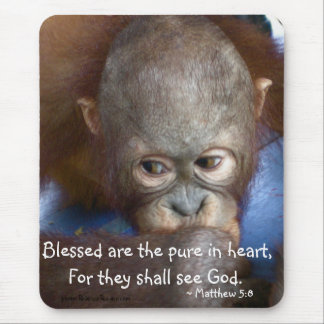 "Innocent Baby  ""Blessed are the pure in heart"" Mouse Mat"