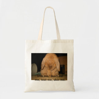 innocent  bunny tote bag