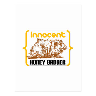 Innocent Honey Badger new Postcard