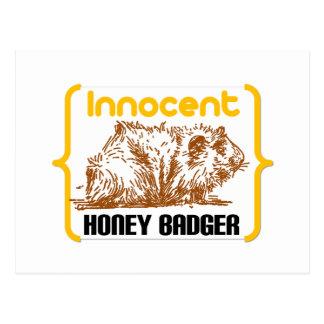 Innocent Honey Badger new Post Cards