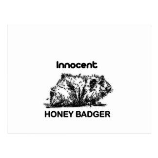 Innocent Honey Badger Post Cards