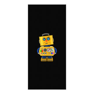 Innocent looking toy robot rack card template