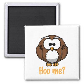 "Innocent Owl - ""Hoo Me?"" Magnet"