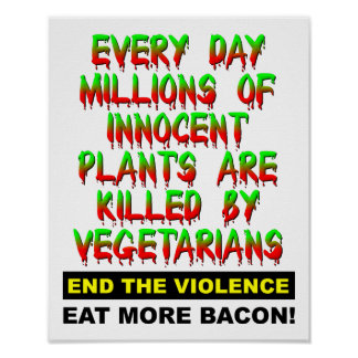 Innocent Plants Funny Poster