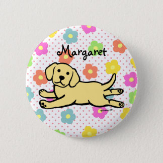 Innocent Yellow Labrador Puppy Cartoon 6 Cm Round Badge