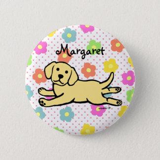 Innocent Yellow Labrador Puppy Cartoon 6 Cm Round Badge