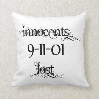 Innocents Lost 9-11-01 Throw Pillow Cushion