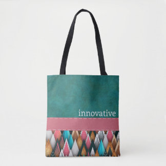 INNOVATIVE - Teal, Salmon, Pink - Handbag