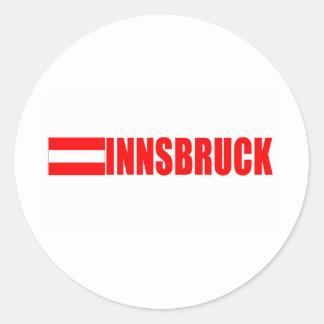 Innsbruck, Austria Round Stickers