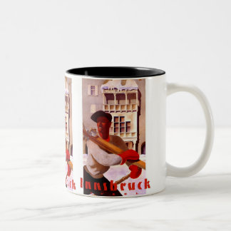 """Innsbruck"" Vintage Travel Poster Two-Tone Coffee Mug"
