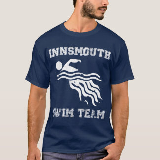 Innsmouth Swim Team tee - dark distressed