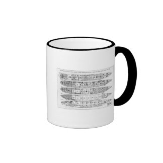 Inquiry in the Loss of the Titanic: Cross sections Ringer Coffee Mug
