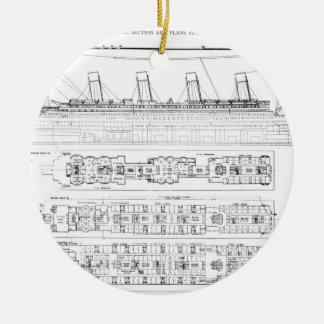 Inquiry into the Loss of the Titanic: Cross sectio Round Ceramic Decoration