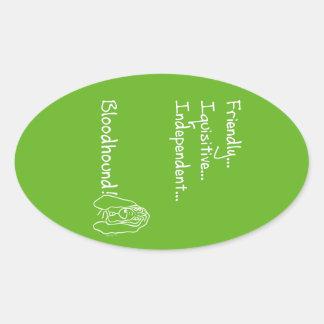 Inquisitive Bloodhound Oval Sticker
