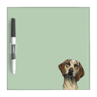Inquisitive Hound Rendering Dry Erase Board