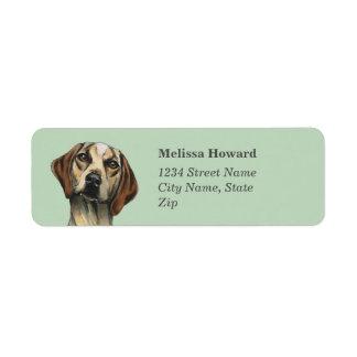Inquisitive Hound Rendering Return Address Label