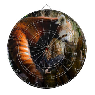 inquisitive red panda dartboard