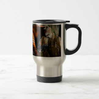 inquisitive red panda travel mug