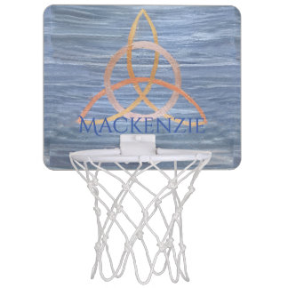 Inquisitive Sport   Blue Gold Celtic Trinity Name Mini Basketball Hoop
