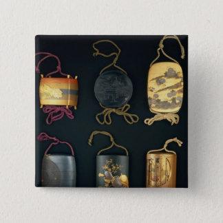 Inro Cases, 19th century 15 Cm Square Badge