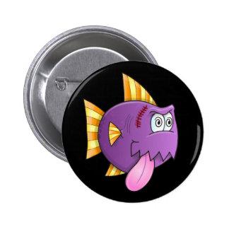 Insane Crazy Fish Button