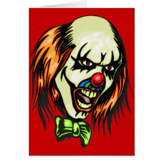 Insane Evil Clown Stationery Note Card