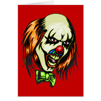 Insane Evil Clown Greeting Card