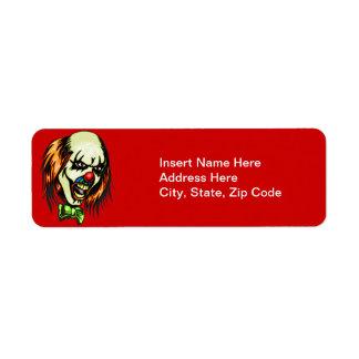 Insane Evil Clown Return Address Label