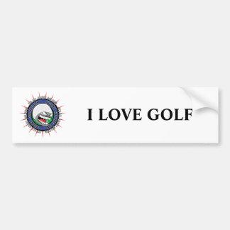 Insane Golfing Fan Bumper Sticker