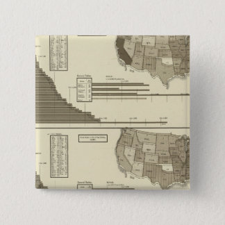 Insane, Idiotic, Blind statistical map 15 Cm Square Badge