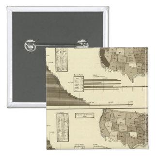 Insane, Idiotic, Blind statistical map 15 Cm Square Badge