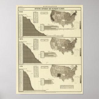 Insane, Idiotic, Blind statistical map Poster