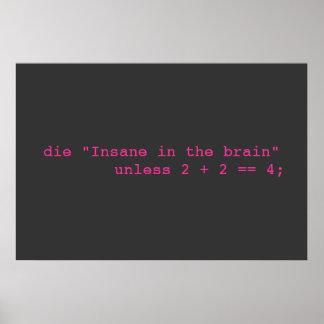 Insane in the Brain Poster