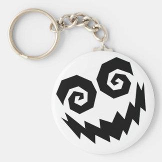 Insane In The Face White+Black Key Ring