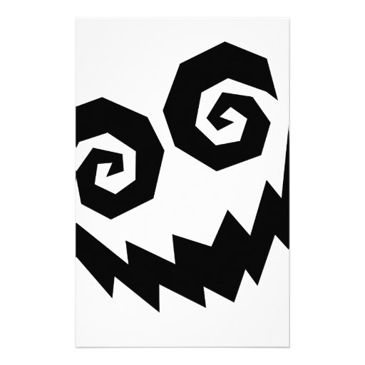 Insane In The Face White+Black Stationery