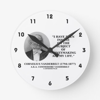 Insane On The Subject Of Moneymaking Quote Wall Clock