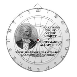 Insane On The Subject Of Moneymaking Quote Dart Board