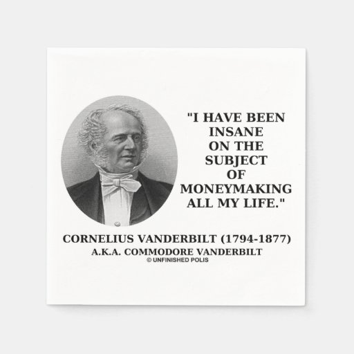 Insane On The Subject Of Moneymaking Quote Disposable Napkin