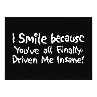 Insane Smile Personalized Invite