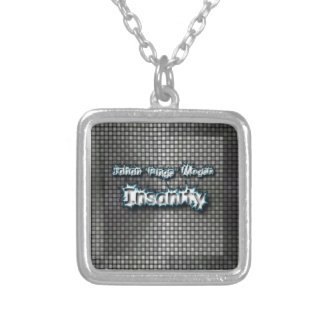 Insanity cover art silver plated necklace